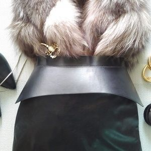 BCBGMaxAzria Corset Waist Belt Black S